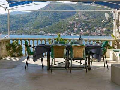 Photo for Waterfront Lemon Tree Cottage, romantic location, sea view, amazing terrace