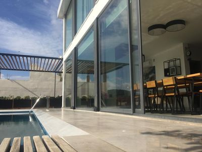 Photo for Bright modern villa with private pool for up to 8