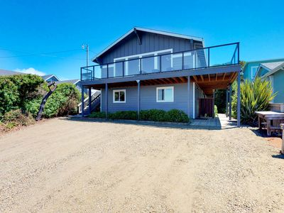 Photo for Family-friendly house w/ ocean views & private hot tub - walk to the beach!