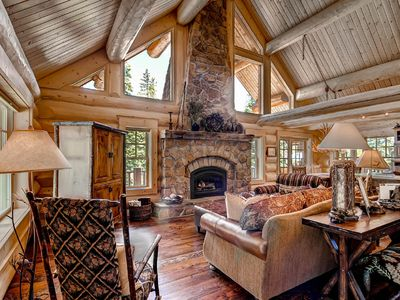 Photo for Luxury Colorado Log Cabin in Breckenridge, Hawk's Nest, Mountain View, Hot tub
