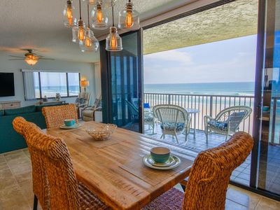 Photo for Direct Oceanfront on No-Drive New Smyrna Beach 3/2 Corner Unit!