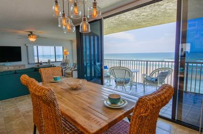 Amazing ocean view right from the dining table