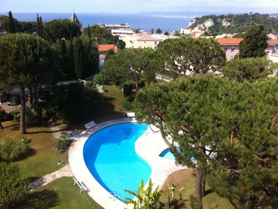 Photo for Sea view, top floor, 3 rooms of 110 m² overlooking the port of Nice