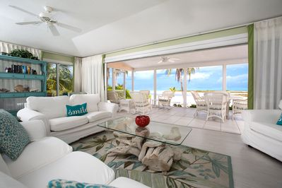 The large living area opens to a large screen porch.