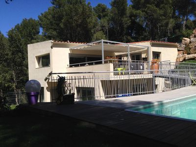 Photo for Beautiful villa for 8 people nestled in the pine forest near the sea