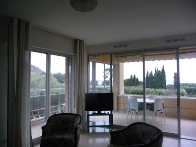 Photo for Cassis apartment for 6 breathtaking view of sea and cliff, beaches at 3mins walk