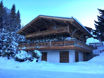 Photo for CHALET OF HIGH STANDING SKI ON THE FOOT - SWIMMING POOL AND SPA