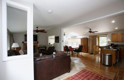 Photo for Beautiful spacious home in the Pocono's, Large Firepit ,Awesome Game Room & Bar