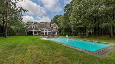 Photo for New Listing: 4,000' Classic Cedar Home, Airy & Open Escape w/ Outdoor Oasis Surrounded by Tall Oaks