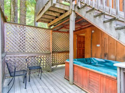 Photo for Cute, cozy, and charming, this two-level duplex mountain chalet has a lovely Alpine view, for whi...