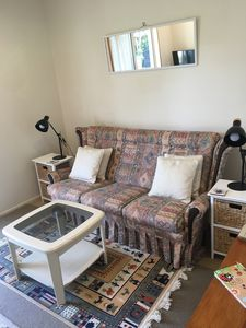 Seperate lounge room with smart television and dvd player