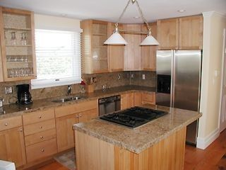 Granite counters, stainless appliances