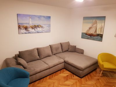 Photo for App Sandra 3 bedrooms with 2 bathrooms at 112 m2 on first floor. Rijeka-Kostrena