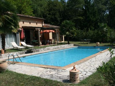 Photo for Tourrettes: Provencal farmhouse with pool in a river