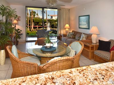 Photo for Laid-Back Condo Steps from Sand! Roomy Design w/Kitchen, WiFi–Kamaole Sands 10108