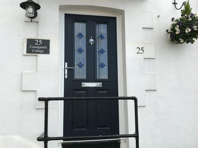 Photo for Coastguard cottage, stones throw from the beach