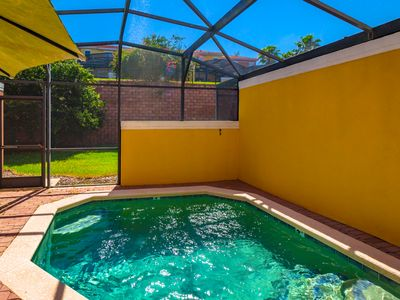 Photo for 3 Bed Encantada townhouse w/ private heated pool 5miles to Disney