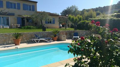 Photo for Villa for 8- private pool - air-conditioned rooms- Royal Mougins GOLF at 3m