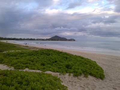 Photo for Kailua Beachside, 2 Houses off beach, 2bed/2bath, Sleeps 8, Ocean & Mtn Views