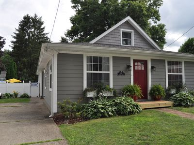 EDINBORO LAKESIDE COTTAGE W/POOL!  COMPLETELY REMODELED INSIDE AND OUT.