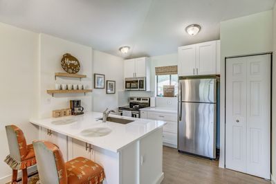 Stunning New Kitchen Cabinetry with New  Stainless Steel Appliances