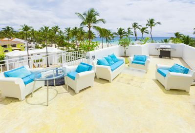 Imagine a big party or a romantic dinner on this sunny breezy terrace!