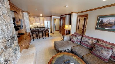 Photo for Classic & Comfortable Three Bedroom Steps from Vail Mtn