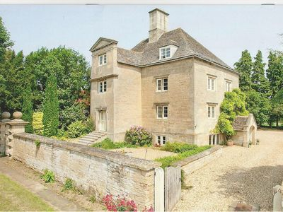 Photo for Historic Manor House with garden and all weather tennis court in pretty village