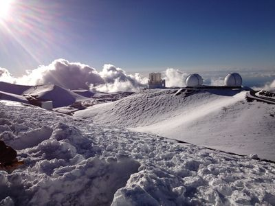 Top of Mauna Kea during Winter