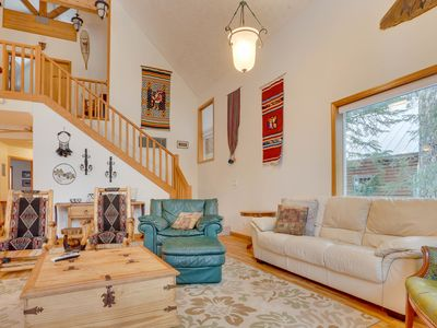 Photo for Home w/ mountain views, chef's kitchen, private hot tub!