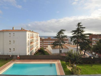 Photo for Apartment Fresnos Duplex- sea view, 300 m from the beach, swimming pool and recreation area