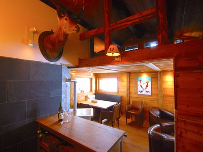Photo for Beautiful Chalet on 1800 Meters altitude, renovated in style to high standard