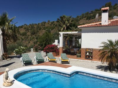 Photo for Pretty Villa with private pool. 35mins to sea. WiFi, A/C, log fire plus U.K. TV.