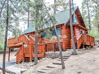 Photo for Living Log Cabin 3 BR Bear City Log Cabin Hot Tub