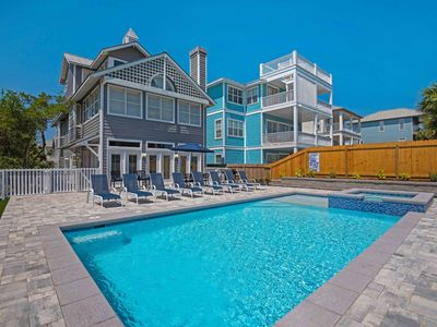 Photo for Private Beach! ~PRIVATE POOL & Spa ~New Kitchen~ Golf Cart