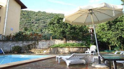 Photo for Cosy Lusal (C) apartment  complex with garden, parking, sharedpool Sorrentocoast