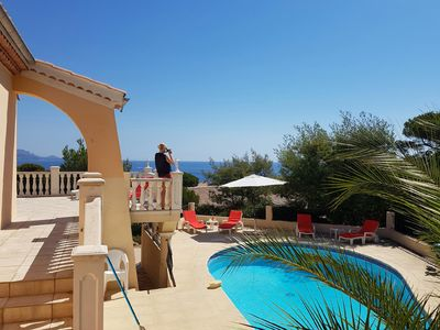 Photo for VILLA CLIM + HEATED POOL, 400 M WITH FOOT OF BEACH, PANORAMIC VIEW, 2-16 PEOPLE