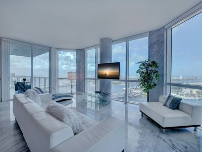 Photo for ULTRA  LUXURY 3/3  CONDO with  STUNNING VIEWS of OCEAN and BISCAYNE BAY!!!
