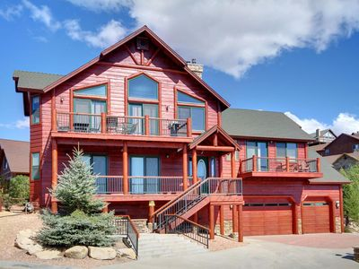 Photo for WINDSONG RETREAT - INCREDIBLE LAKE VIEW, LOG CABIN, HOT TUB!