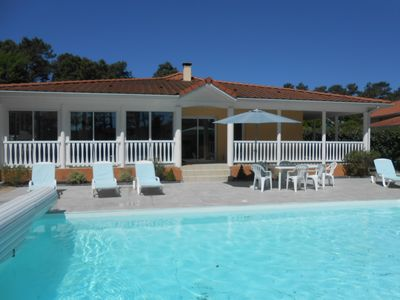 Photo for Villa 3 bedrooms, Eden Park, on the golf, private heated pool, wifi