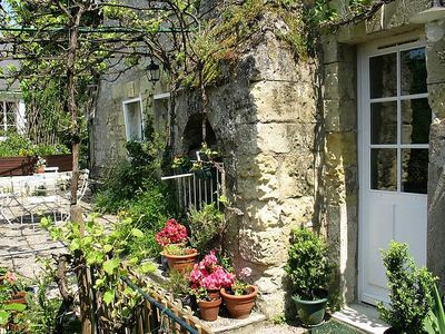 Photo for Troglodyte house near Tours in Loire Valley in an old property XVIII century
