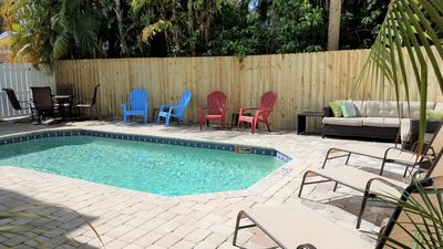 Photo for JUST LISTED Large Beach Home 5 houses From The Beach. POOL HEAT INCLUDED!