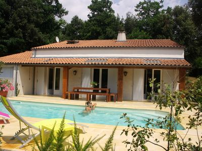 Photo for Superb Villa 14 People - Heated Swimming Pool - Near Beach