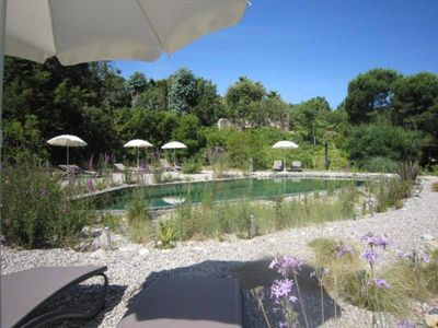 Photo for 3* apartment for 2 people in a provencal villa with natural pool & free bicycles