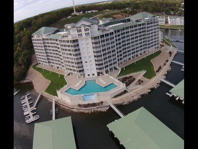 Photo for LAKEFRONT! View. Elevator. YOU CAN PROPERLY SOCIAL DISTANCE ON YOUR BOAT!