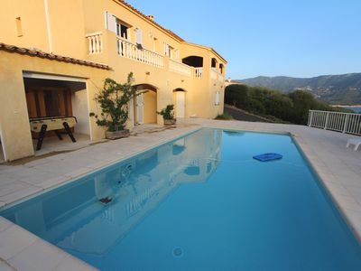 Photo for Luxury villa with pool, sea view, near beaches