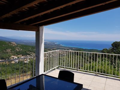 Photo for beautiful air conditioned home panoramic sea and mountain in country village
