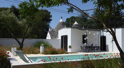 Photo for Beautiful 2 bedroom Trullo with pool, near Martina Franca