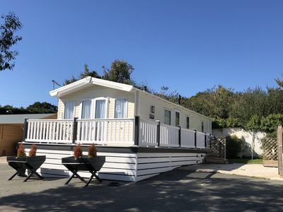 Photo for Luxury two bed family and dog friendly static caravan, in Roebeck Country Park