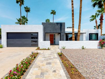 Photo for Colorful and modern home with private pool and large back patio!